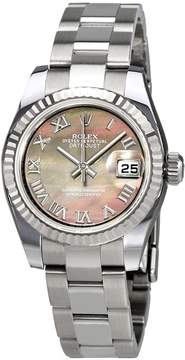 Rolex Lady Datejust Black Mother of Pearl Roman Dial Automatic Watch