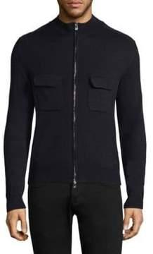 Isaia Ribbed Full-Zip Sweater