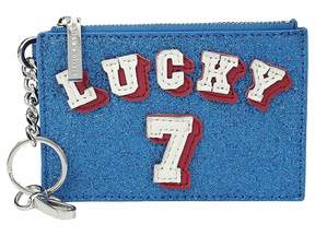 Alice + Olivia Evy Lucky 7 Zip Coin Pouch