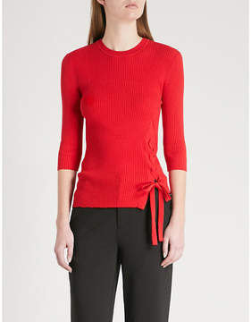 Mo&Co. Tie-side knitted top