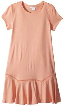 Chloé Kids Jersey Essential Short Sleeve Dress Girl's Dress