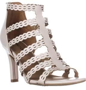 Rialto Roma Strappy Zip Heel Sandals, Linen.