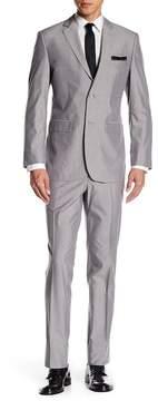 Perry Ellis Two Button Notch Label Trim Fit Suit