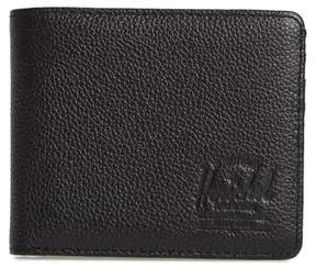 Herschel Men's Tile Roy Leather Bifold Wallet - Black