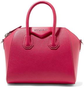 Givenchy Antigona Mini Textured-leather Shoulder Bag - Fuchsia