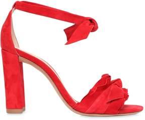 Alexandre Birman 90mm Lupita Ruffles Suede Sandals