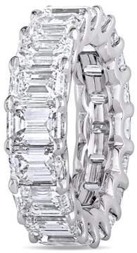 Delmar Mfg. LLC Julie Leah 9.15 CT TW Emerald Cut Diamond Eternity Ring in Platinum