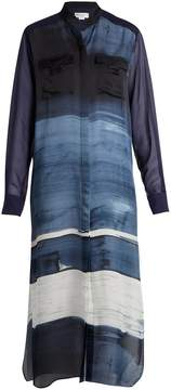 Amanda Wakeley Painterly silk-satin shirtdress