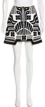 Andrew Gn Embellished Virgin Wool Skirt