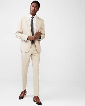 Express Slim Khaki Wool-Linen Blend Suit Pant