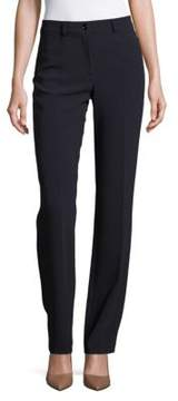 Basler Solid Flat-Front Pants