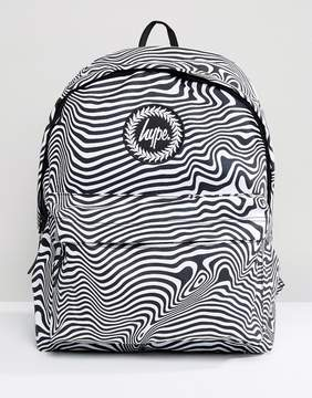Hype Warped Zebra Print Backpack