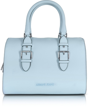 Armani Jeans New Light Blue Eco Leather Satchel Bag
