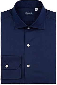 Finamore MEN'S COTTON-SILK DRESS SHIRT