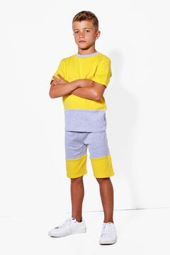 boohoo Boys Contrast Panel Sweat Shorts