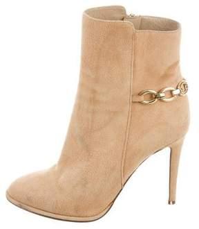Diane von Furstenberg Embellished Suede Ankle Boots