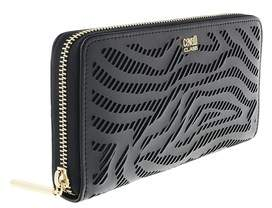 Roberto Cavalli Long Size Wlt W/zipper Audrey Black Wallet.