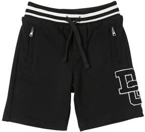 Dolce & Gabbana Patch Cotton Sweat Shorts