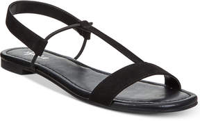 Style&Co. Style & Co Kristee T-Strap Flat Sandals, Created for Macy's Women's Shoes