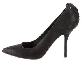 Vera Wang Suede Pointed-Toe Pumps