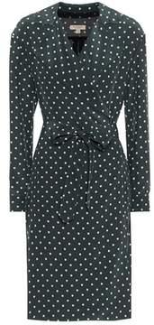 Burberry Polka-dotted silk wrap dress
