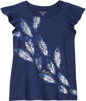 Nautica Girls' Feather T-Shirt