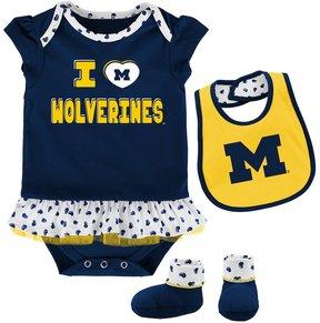 NCAA Baby Michigan Wolverines Team Love Bodysuit Set