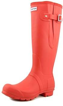 Hunter Adjustable Wellington Round Toe Synthetic Rain Boot.