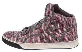 Lanvin Woven High-Top Sneakers