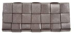 Michael Kors Basketweave Leather Clutch - GREY - STYLE