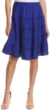 Allen Allen Linen A-Line Skirt