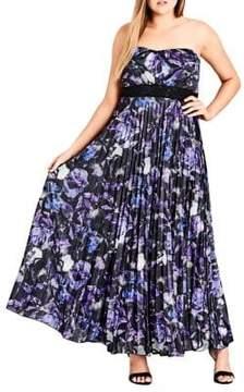City Chic Plus Floral Maxi Dress