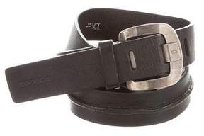 Christian Dior Silver-Tone Buckle Leather Belt