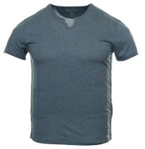 Converse 'Black Canvas' Blue V-Neck T-Shirt