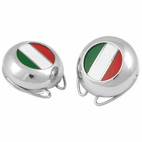 Forzieri Italian Flag Silver Plated Button Covers