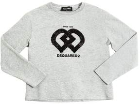 DSQUARED2 Sequins Embroidered Cotton Jersey