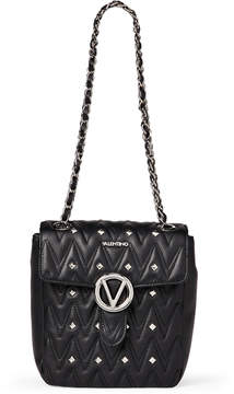 Mario Valentino Valentino By Black Mabiche Studded Chain Shoulder Bag