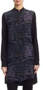 Akris Punto Twilight Zip Tunic Silk Jacket