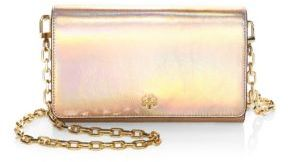Tory Burch Robinson Leather Clutches - PINK OPAL - STYLE