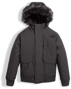 The North Face Gotham Down Hooded Jacket w/ Faux-Fur Trim, Gray, Size XXS-XL
