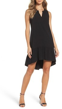 Charles Henry Women's High/low Ruffle Shift Dress