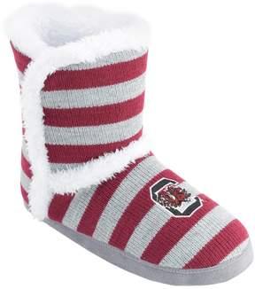 NCAA Women's South Carolina Gamecocks Striped Boot Slippers