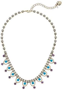Betsey Johnson Crystal and Gold Frontal Necklace Necklace