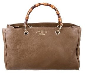 Gucci Bamboo Shopper Tote - BROWN - STYLE