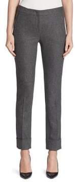 Armani Collezioni Stretch Flannel & Cashmere Cuff Pants