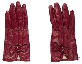 Neiman Marcus Leather Knot Gloves