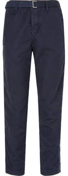 Sacai Garment-Dyed Cotton-Blend Trousers