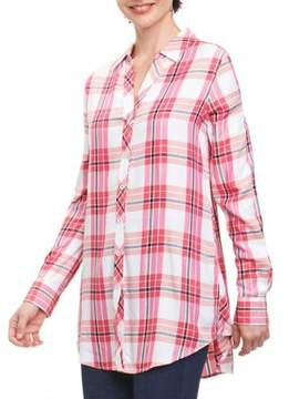 Foxcroft Fay Johnny Plaid Button-Down Tunic