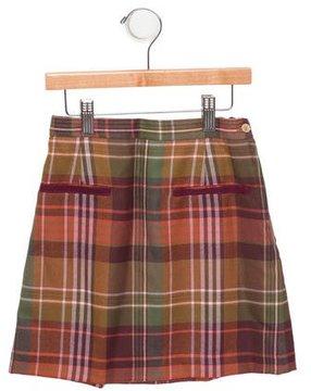 Oscar de la Renta Girls' Plaid Wool Skirt w/ Tags