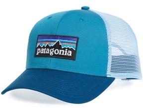 Patagonia Men's P-6 Logo Trucker Hat - Blue